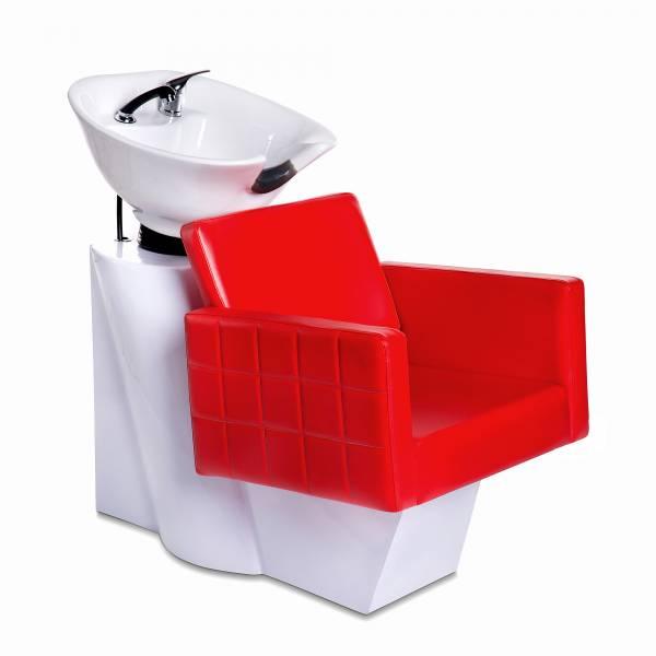 Friseurwaschsessel 256168 weiß/rot