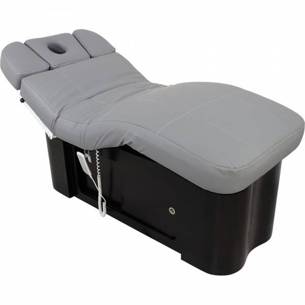 L20895 Wellness- Massageliege grau / schwarz