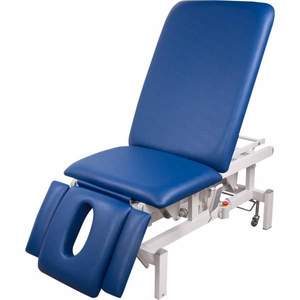 8273 vollelektrische Behandlungsliege (weiß, blau, grau)