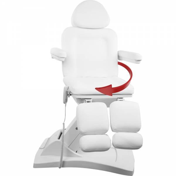 122155 Fußpflegestuhl weiß mit 3 Motoren