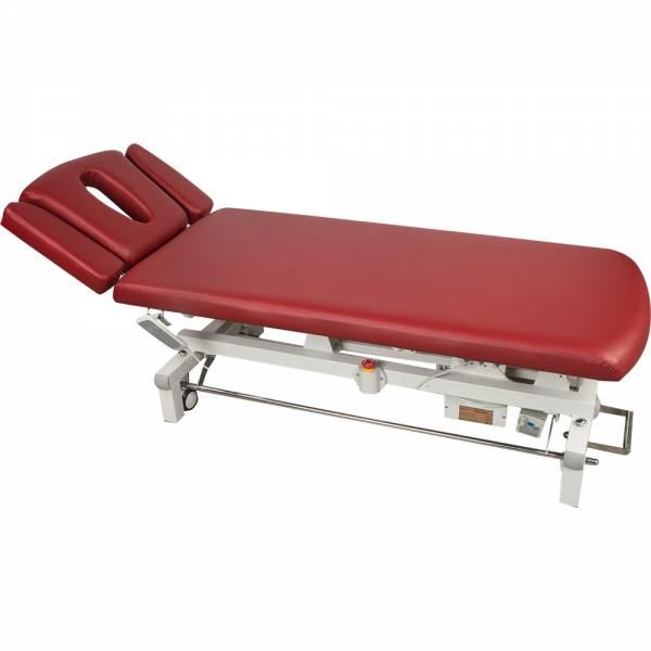 06S807 Massageliege Behandlungsliege Terapieliege weinrot