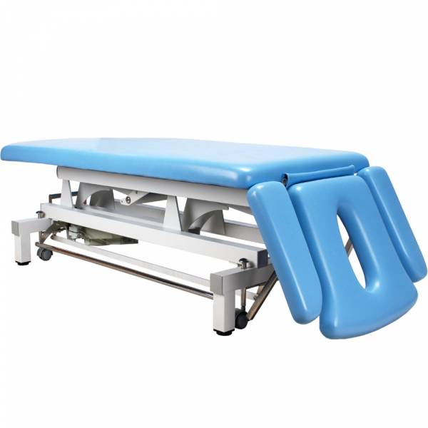 07S807 Massageliege Therapieliege hellblau mit Rundumschalter