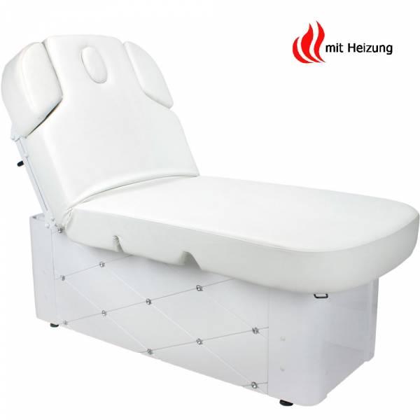 003370-3H Massageliege Wellnessliege Weiß mit Heizung und Memory