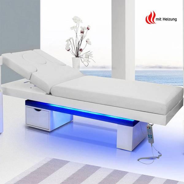Elektrische Massageliege Wellnessliege 003815H weiß mit Heizung