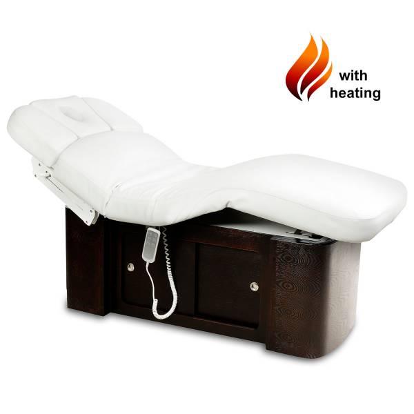 Massageliege 050899H braun/weiß mit Heizung