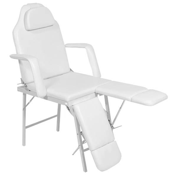 Tragbarer Fußpflegestuhl - Kosmetikliege 120261d weiß